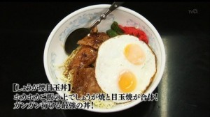 孤独のグルメドラマseason1第10話:豊島区 東長崎のしょうが焼目玉丼「せきざわ食堂」-しょうが焼目玉丼