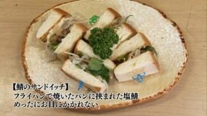 孤独のグルメドラマseason1第11話:文京区根津 飲み屋さんの特辛カレー「季節料理すみれ」-鯖のサンドイッチ